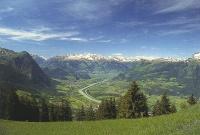 Blick auf den Alpenrhein von Triesenberg (LI) (copyright SGS)